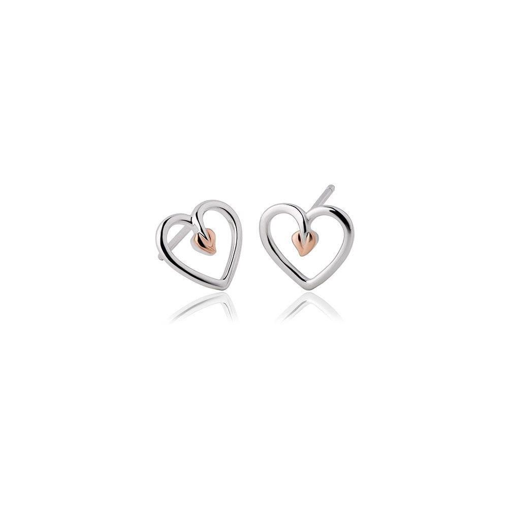 c2ff028f5 Clogau Jewellery Tree of Life Heart Stud Earrings - Jewellery from ...